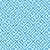 Nyckel- sömlös modellbakgrund för grek i blått och vit Tappning och retro abstrakt dekorativ design Enkel lägenhet royaltyfri illustrationer