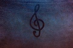 Nyckel- symbol för musik arkivbild