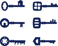 Nyckel- symbolsuppsättning Royaltyfria Bilder