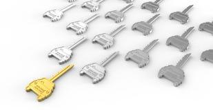 nyckel- tecken för bil som begrepp Arkivfoto