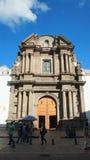 Nyckel till Catedralen Primada de Quito i den historiska mitten Den historiska mitten förklarades av UNESCO det första kulturellt Royaltyfria Foton