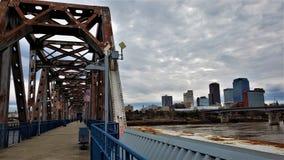 Nyckel till i stadens centrum Little Rock arkivfoto