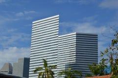 Nyckelbyggnaderna Singapore, Asien Arkivbild