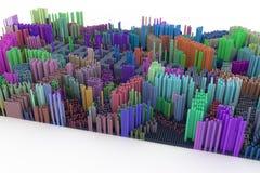 Nyckelord av perfektion Färgrik tolkning 3d Forma sammansättning arkivfoton