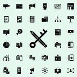 Nyckelordsymbol Universell uppsättning för Digital marknadsföringssymboler för rengöringsduk och mobil royaltyfri illustrationer