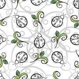 Nyckelpiga Gray Pattern Royaltyfri Foto