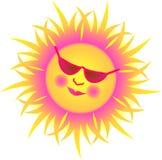 nyckfull eps-sun royaltyfri illustrationer