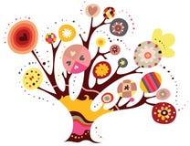 nyckfull tree stock illustrationer