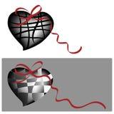 nyckfulla hjärtor två Royaltyfri Illustrationer
