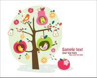 nyckfullt fruktträd Arkivbild