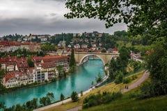 Nydeggbrucke - Bern - Швейцария Стоковые Фото