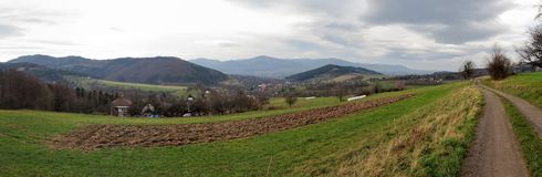 Nydek from hillside Cantorie Stock Photos
