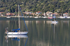 Nydri bay at Lefkada, Greece Stock Image