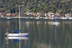 Nydri bay at Lefkada, Greece stock image