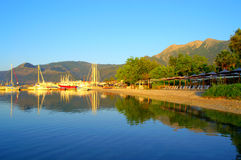 Nydri bay at Lefkada island Stock Images