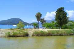 Nydri beach scenery,Lefkada Greece Stock Photography
