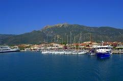 Nydri harbor , Lefkada island Greece Royalty Free Stock Photography