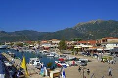 Nydri harbor , Lefkada island Greece Stock Photos