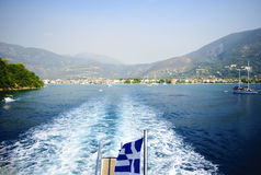 Nydri harbour at Lefkada island, Greece Stock Photo
