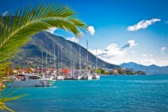 Nydri harbour at Lefkada, Greece. Royalty Free Stock Image