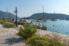 NYDRI, LEFKADA, GREECE JULY 17: Port at Nydri Bay, Lefkada, Greece Stock Images