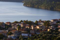 Lefkada. Nydri village on Lefkada island in Greece royalty free stock photo