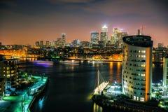NYE的泰晤士2014年 图库摄影