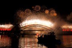 nye Сидней гавани моста стоковое фото