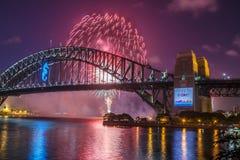 NYE firework at Sydney Harbour Bridge