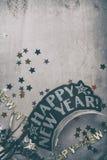 NYE: Fondo descolorado con Copyspace para Eve Party del Año Nuevo Fotos de archivo libres de regalías