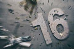 NYE: Het gezoemonduidelijke beeld schittert 16 voor Oudejaarsavond Stock Fotografie