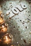 NYE: Kiesiger und Grungy neues Jahr-Hintergrund für 2016 Stockfoto