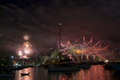 NYE Sydney Fireworks Stock Photography