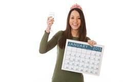 NYE: Tostar el Año Nuevo con Champán Foto de archivo libre de regalías