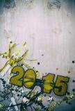NYE: Vidros do brilho para 2015 no fundo do Grunge Imagens de Stock