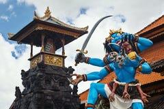 Nyepi游行的传统巴厘语邪魔ogoh-ogoh 图库摄影