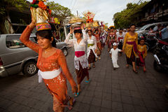 Nyepi - a Balinese Day of Silence Stock Image