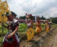 Nyepi berömmar på den Prambanan templet Fotografering för Bildbyråer