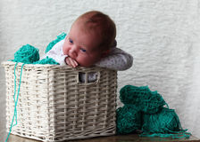 nyfödd flicka Royaltyfria Foton