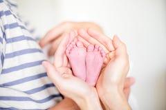 nyfödd fot Fotografering för Bildbyråer