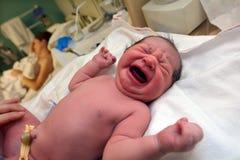 Nyfödd havandeskap - behandla som ett barn Arkivbilder