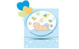 Nyfödd pojke Royaltyfria Bilder