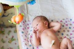 Nyfött behandla som ett barn, 3 gamla dagar Arkivbilder