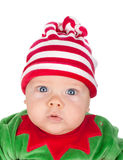 Nyfött behandla som ett barn santa Royaltyfri Fotografi
