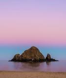 Nyfikenö efter solnedgång Arkivfoton