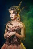 Nyfiken Harpy halloween Royaltyfri Bild