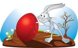 Nyfiken påsk Bunny Vector Cartoon Arkivfoto