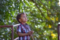 nyfiket barn Arkivfoton