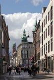 Nygade ulica w Kopenhaga Zdjęcia Royalty Free