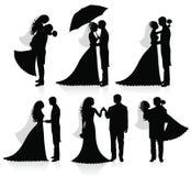 nygift person royaltyfri illustrationer